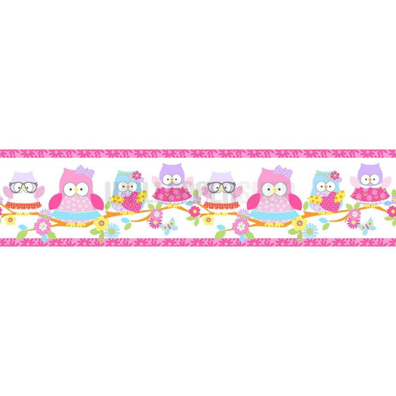 Olive The Owl Border Pink No 31249