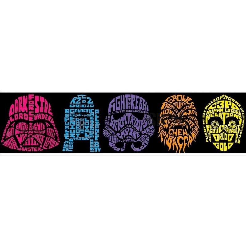 Star Wars Neon Head Border Multi No 31254