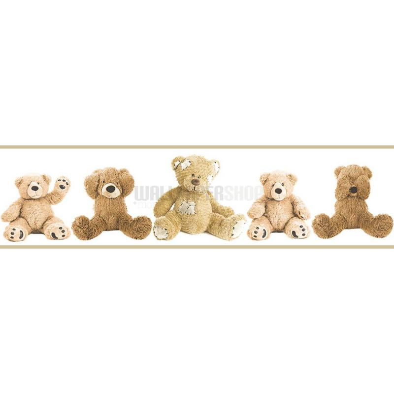 Teddy Bears Border Brown No 31266