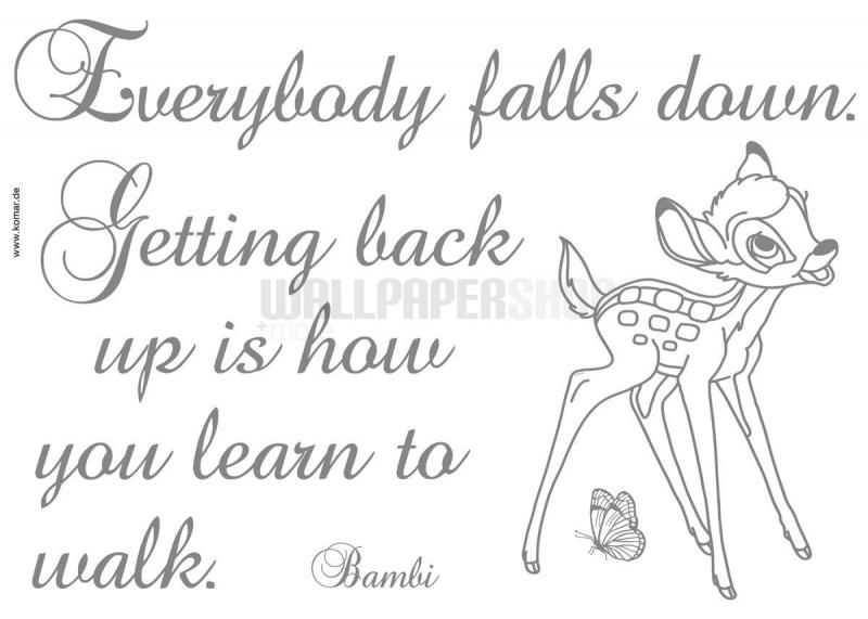 Getting Back Up Bambi Sticker No 31003