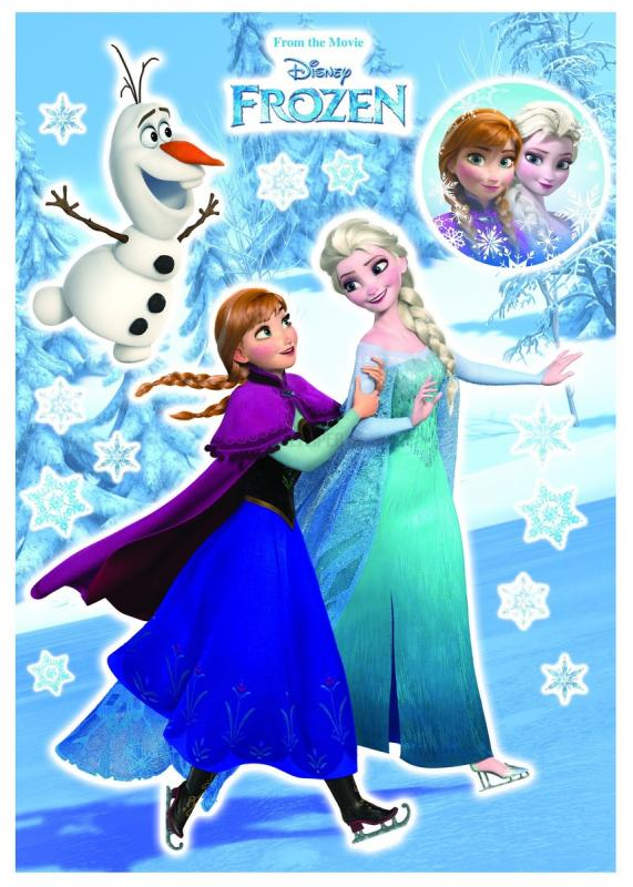 Anna And Elsa Frozen Sticker No 31027