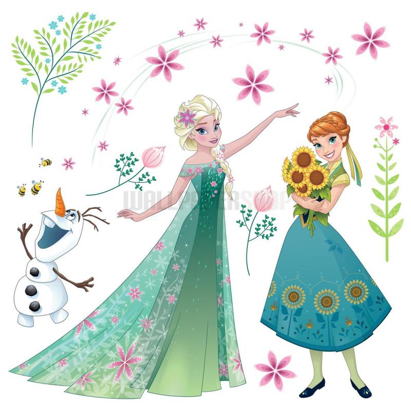 Frozen Flower Window Disney Sticker No 31104