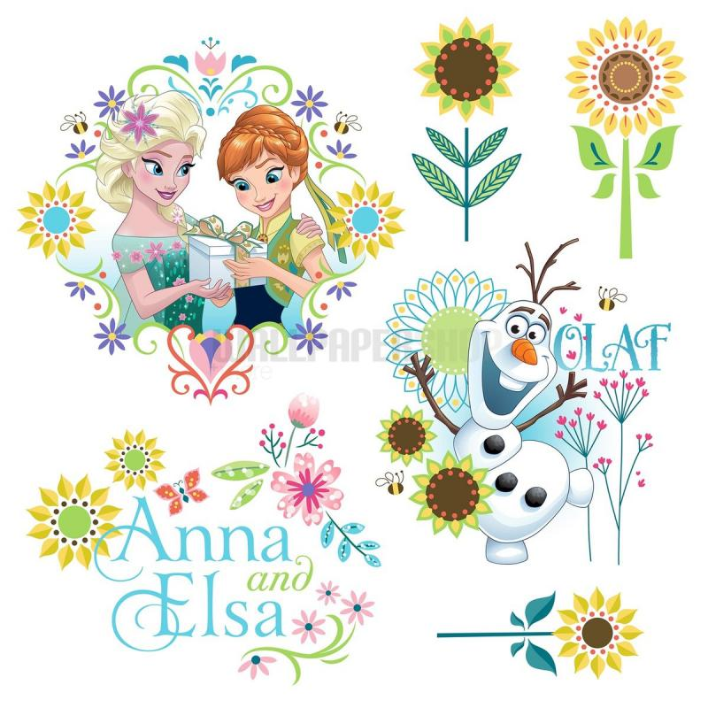 Frozen Flower Window Disney Sticker No 31103