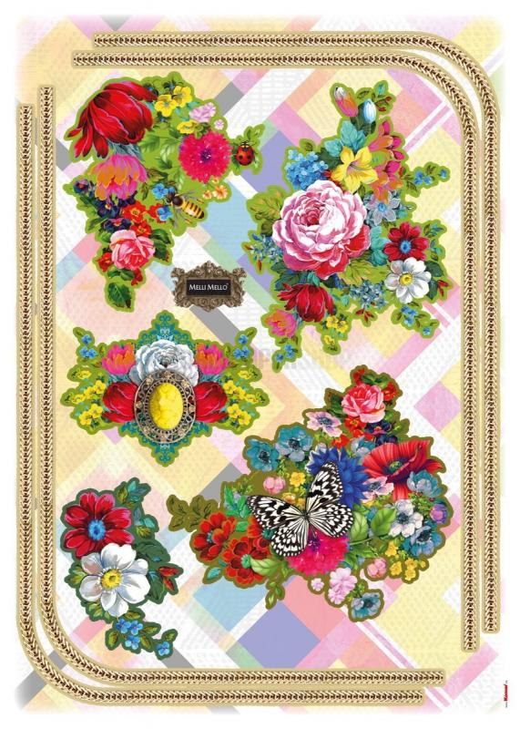 Melli Maello Flowers Sticker No 31043