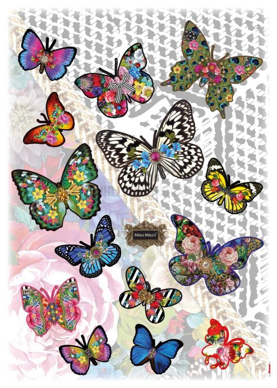 Melli Maello Butterflies Sticker No 31045