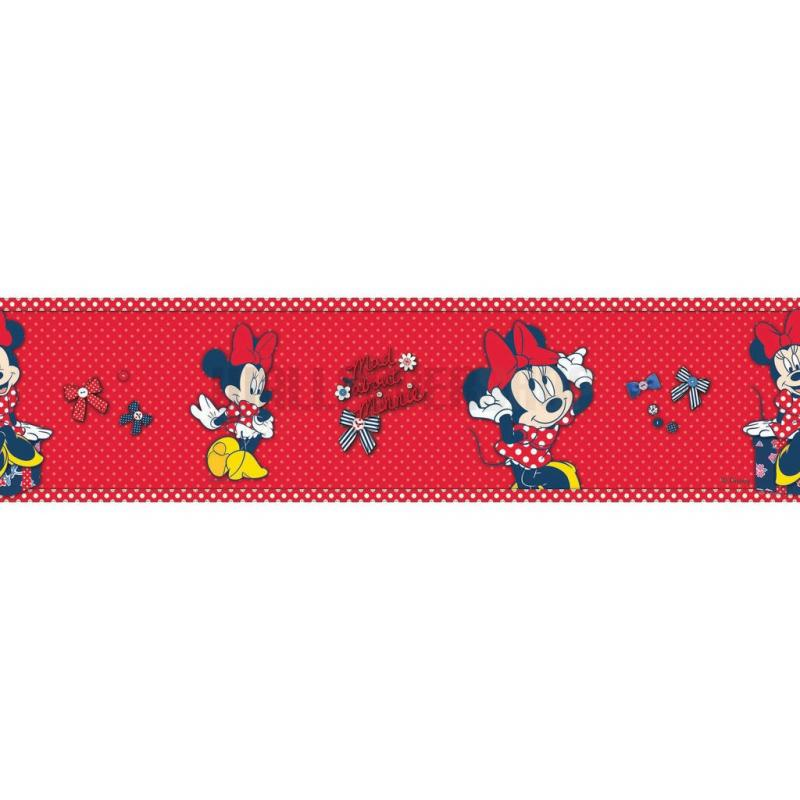 Minnie Red Bow Border Red No 31196