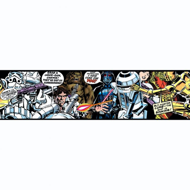 Star Wars Cartoon Border Multi No 31221