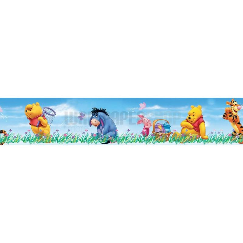 Pooh Bother Free Days Border Light Blue No 31273