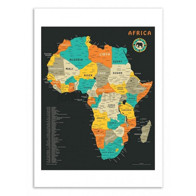 Africa Map Jazzberry Blue Poster No 47891