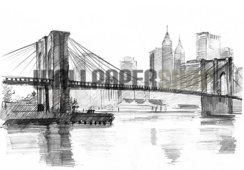 Brooklyn Bridge Skitch No 12178
