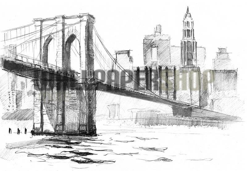 Brooklyn Bridge Skitch No 12179