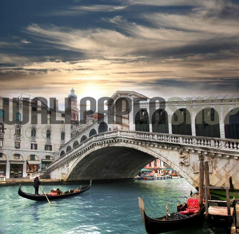 Gondola On Grand Canal Italy No 18426