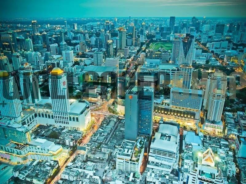 Bangkok City In Twilight No 18557