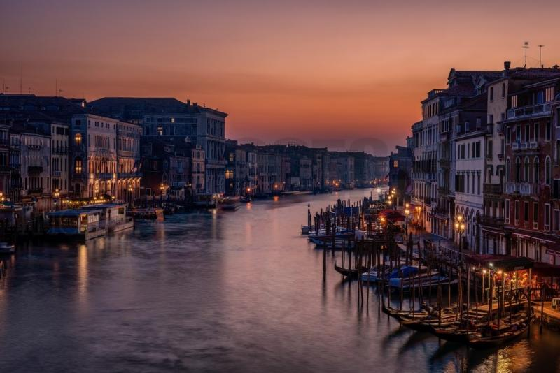 Venice Grand Canal At Sunset No 26021