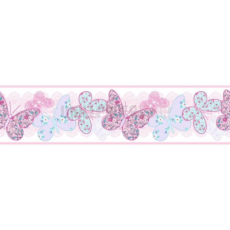 Butterfly Border Pink No 31248