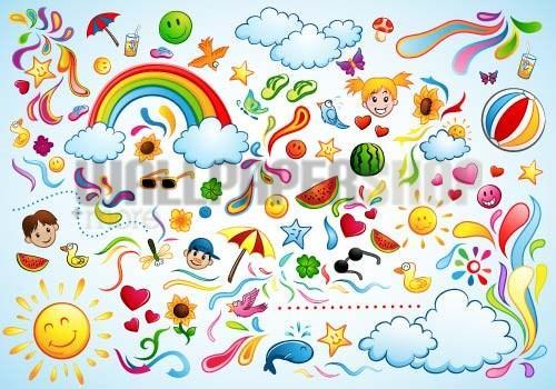 Digital Walls Colorful Summer No 5906