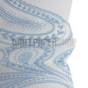 Pleated Blinds Design 50mm Blue No 13878