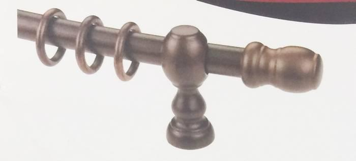 Walnut Curtain Rod No 14861